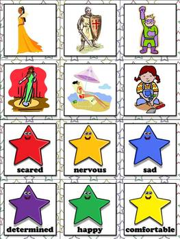 Drawing Conclusions: Character Traits Matching Game Sort - King Virtue