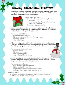 Drawing Conclusions- Christmas