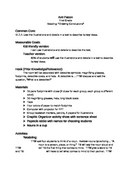 Drawing Conclusions Evaluation Lesson Plan By Ami Watson Tpt