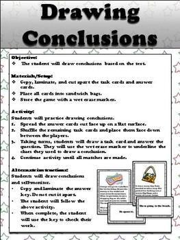 Drawing Conclusions Game Sort - King Virtue