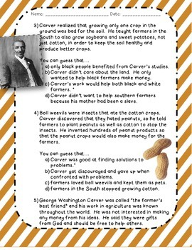 Drawing Conclusions: George Washington Carver