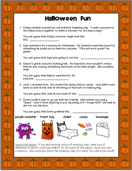 Drawing Conclusions: Halloween Fun (1st-3rd Grades)