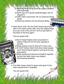 Drawing Conclusions: Hank Aaron