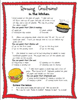 Drawing Conclusions: In the Kitchen