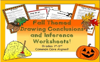 Drawing Conclusions & Inferencing Fall workbook for 1st-3r