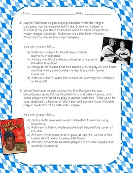 Drawing Conclusions: Jackie Robinson