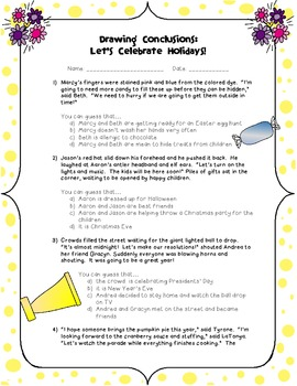 Drawing Conclusions: Let's Celebrate Holidays!