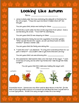 Drawing Conclusions: Looking Like Autumn (1st-3rd Grade)