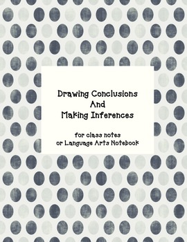 Drawing Conclusions Making Inferences