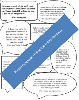 Drawing Conclusions/Making Inferences Practice: One-Sided Phone Calls