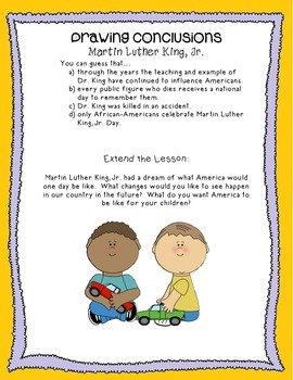 Drawing Conclusions- Martin Luther King, Jr.