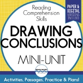 Drawing Conclusions Reading Passages, Worksheets and Graph