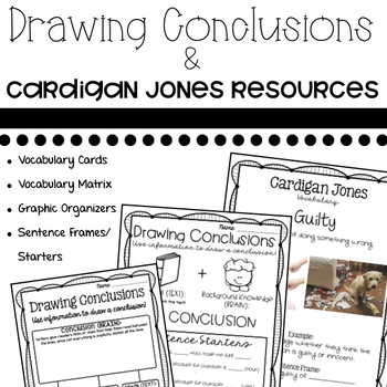 Drawing Conclusions: Paired with Journey's Cardigan Jones Vocabulary