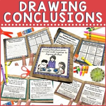 Children need lots of practice with drawing conclusions. It is one of the toughest comprehension skills we teach because it requires such deep thinking. Check out this fun and exciting hands on project for drawing conclusions! This paper bag mini book project offers multiple instructional activities for teaching and practicing drawing conclusions.