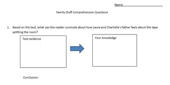 Drawing Conclusions Passage and Comprehension Activity (Accom