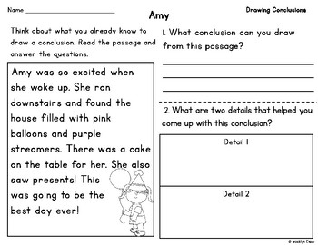 Drawing Conclusions Passages