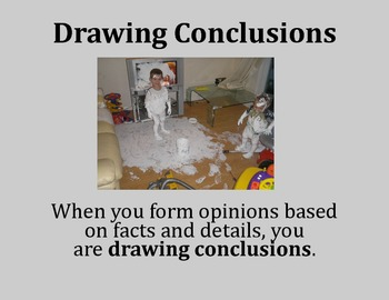 Drawing Conclusions Poster - Intermediate Elementary School Grades