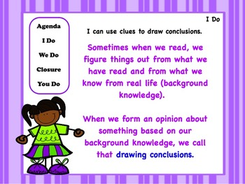Drawing Conclusions: PowerPoint, Worksheets, and Anchor Chart