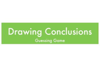 Drawing Conclusions Powerpoint/Keynote