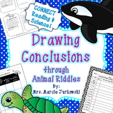 Drawing Conclusions Practice through Animal Riddles: Center & Activities