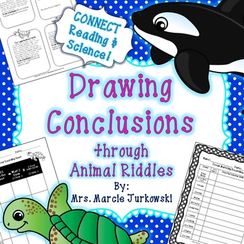 Drawing Conclusions Practice through Animal Riddles: Cente