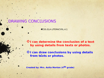 Drawing Conclusions Presentation