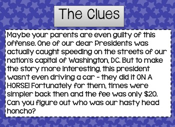 Drawing Conclusions: Presidents' Day {The Case of the Hasty Head Honcho}