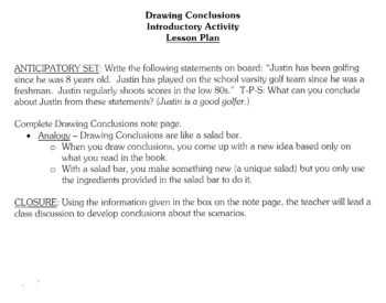 Reading Worksheets | Drawing Conclusions Worksheets