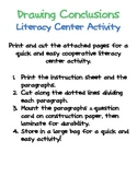 Drawing Conclusions Small Group Activity