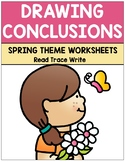 Drawing Conclusions Spring Theme Worksheets (Grades K-2)