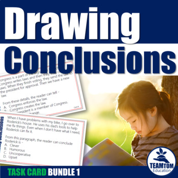 Drawing Conclusions Task Card Bundle 1