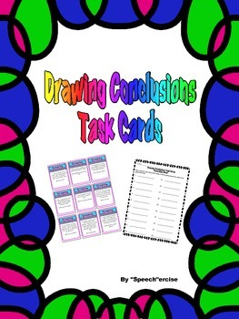 SPEECH THERAPY DRAWING CONCLUSIONS TASK CARDS
