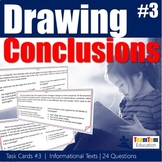 Drawing Conclusions Task Cards 313