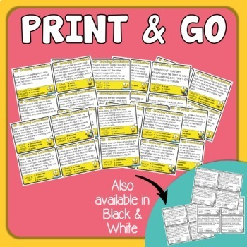Drawing Conclusions Task Cards - Inference Reading Skills Practice