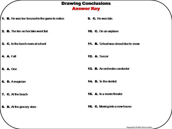Drawing Conclusions Task Cards 3rd 4th 5th Grade Inference Task Cards