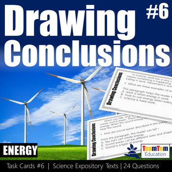 Drawing Conclusions Task Cards Energy