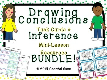 Drawing Conclusions Task Cards & Inference Mini-Lesson Res