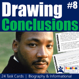 Drawing Conclusions Task Cards Martin Luther King Jr