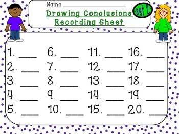 Drawing Conclusions Task Cards (SET 2) {20 Higher Level Thinking Cards}