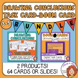Drawing Conclusions Task Cards and Digital Boom Cards Bundle