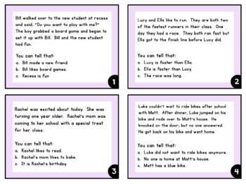 Drawing Conclusions Task Cards for Reading Comprehension