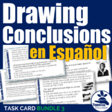Drawing Conclusions Task Cards in Spanish - Sacando Conclusiones Bundle