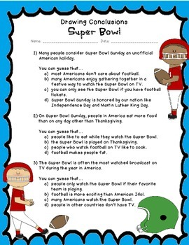 Drawing Conclusions: The Super Bowl