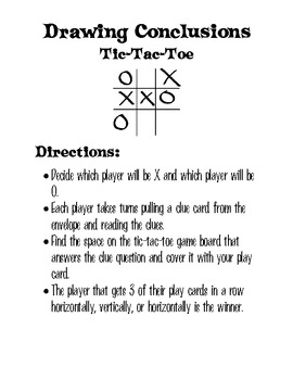 Drawing Conclusions Tic-Tac-Toe Game