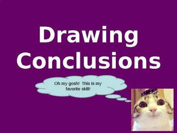 Drawing Conclusions Using Short Answer Style