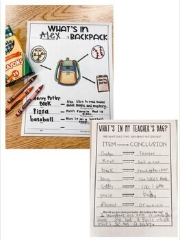 "Drawing Conclusions ""What's in my Teachers Bag?"""