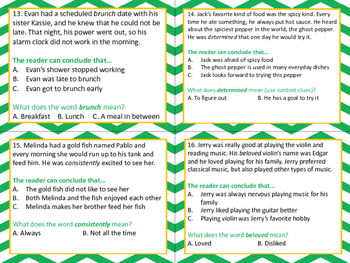 Drawing Conclusions Task Cards - Context Clues