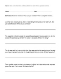 Drawing Conclusions Worksheet; Middle School Special Ed; Modified