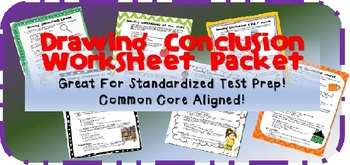 Drawing Conclusions Worksheet Pack!