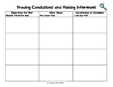 Drawing Conclusions and Making Inferences Graphic Organizer